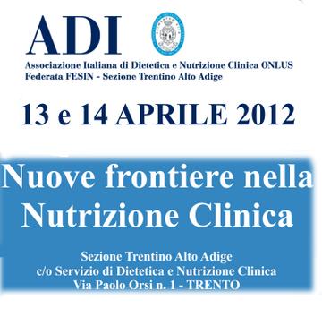 convegno ADI nutrizione TRENTO 2012